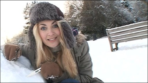 Hayley in the snow
