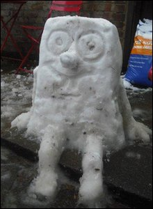 Snow spongebob
