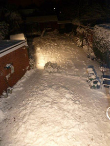 Jacob's photo of the snow from his bedroom window in Leicestershire