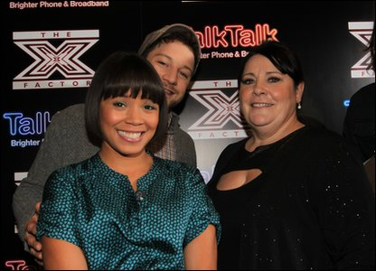 Louis Walsh with his X Factor finalists in the Over 28s category. L-R: John, Louis Walsh, Mary and Storm Lee
