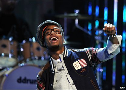 Rapper B.O.B at Grammy awards in LA