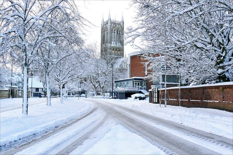 Bbc In Pictures Snowy Scenes Across Lincolnshire