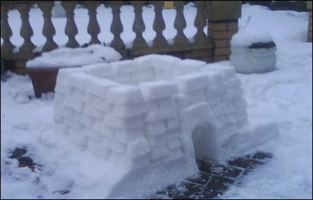 Hassan's snow fort