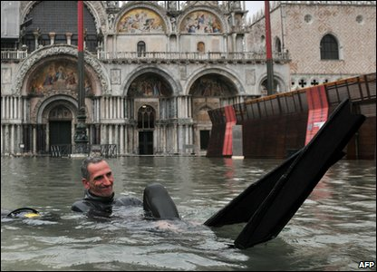 Water levels in Venice are at the highest of this year.