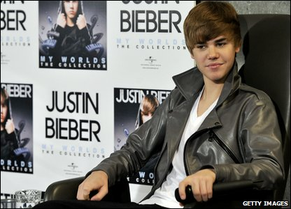 Justin Bieber in Spain's capital city, Madrid, promoting his album, My Worlds The Collection.