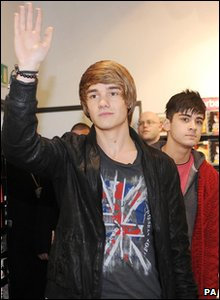 X Factor - Liam and Zayn from One Direction arrive at an autograph signing in Bradford