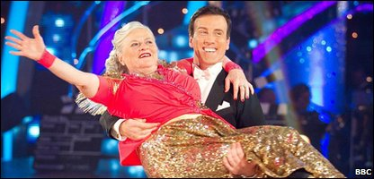Ann Widdecombe and dance partner Anton du Beke are voted off Strictly Come Dancing