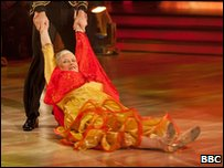 Ann Widdecombe performing the Paso Doble on Strictly Come Dancing
