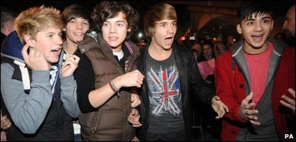 X Factor finalists One Direction