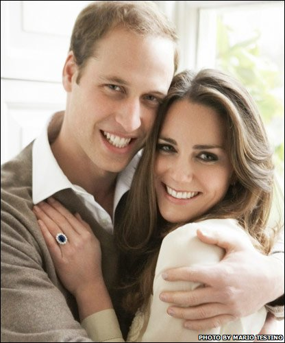 Prince William and Kate Middleton who are engaged to be married on 29 April 2011. Photo by Mario Testino/Clarence House Press Office via Getty Images