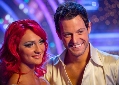 Matt Baker and his dance partner Aliona Vilani on Strictly Come Dancing