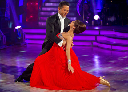 Gavin Henson and Katya Virshilas dancing the Viennese waltz for Strictly Come Dancing