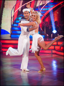 Scott Maslen and Natalie Lowe dancing the Charleston on Strictly Come Dancing