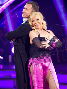 Pamela Stephenson and James Jordan dancing the quickstep for Strictly Come Dancing