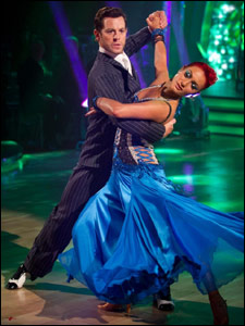 Matt Baker and Aliona Vilani dancing the tango for Strictly Come Dancing