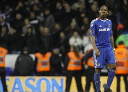 Didier Drogba missed a penalty for Chelsea