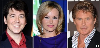 Michael McIntyre, Amanda Holden and David Hasselhoff are all judges on Britain's Got Talent 2011