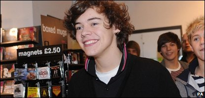 Harry Styles from X Factor runners up One Direction