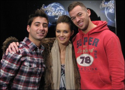 Ricky with Strictly Come Dancing finalist Kara Tointon and her dancing partner Artem Chigvintsev
