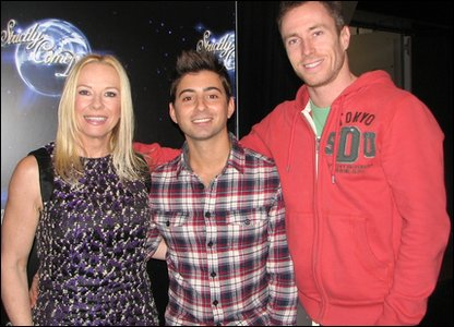 Ricky with Strictly Come Dancing finalist Pamela Stephenson and her dancing partner James Jordan
