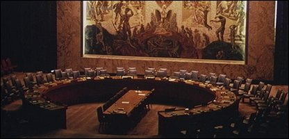 UN BUILDING SECURITY COUNCIL ROOM 1 in New York