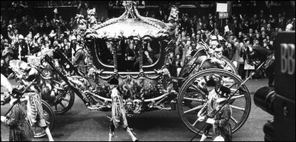 The coronation in 1953