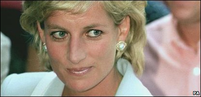 Princess Diana on the day of her divorce