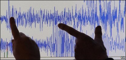 Earthquake hits Cumbria in north-west England