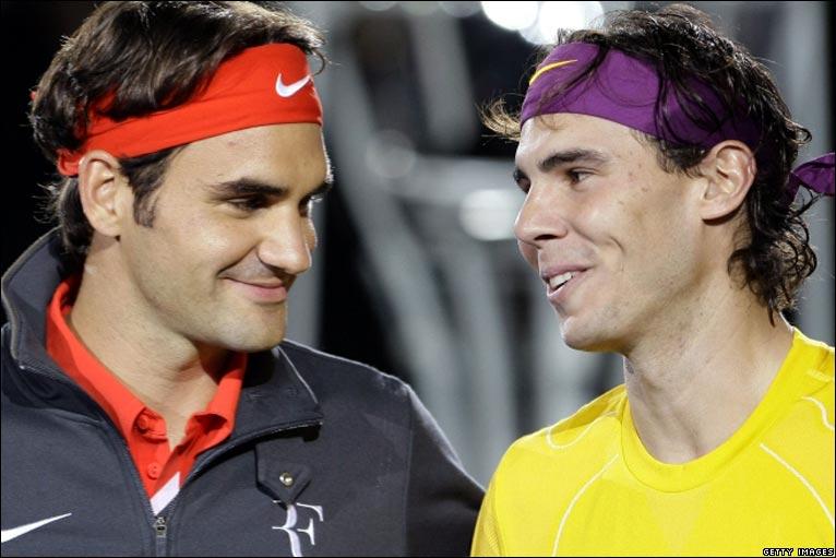 Bbc Sport Tennis Federer V Nadal Charity Match Photos