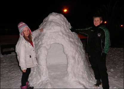 Andrew, Seamus and Katie's igloo