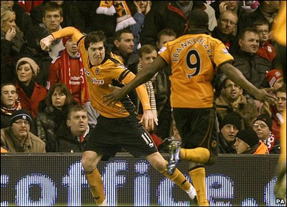 Liverpool and Wolves were in Premier League action last night. The Reds lost 1-0 with this second half goal from Steven Ward. Wolverhampton's first win over Liverpool in almost 27 years!