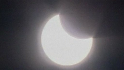 Partial solar eclipse in Jerusalem