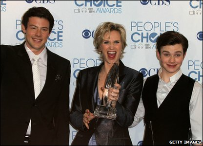 People's Choice Awards 2011 - Glee stars Cory Monteith, Jane Lynch and Chris Colfer