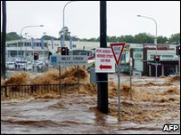 Flash flooding in Queensland