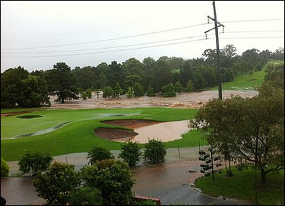 Swamped golf course