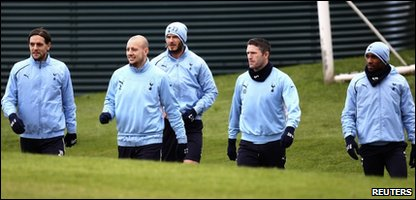 David Beckham trains with Spurs