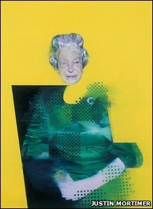 A picture of the Queen from 1998 by Justin Mortimer.