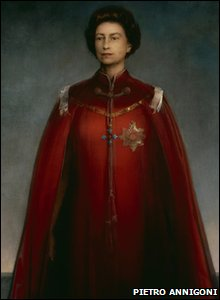 A picture of Queen Elizabeth II from 1969 from the National Portrait Gallery, London