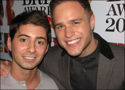 Ricky with Brits nominee X Factor runner-up Olly Murs