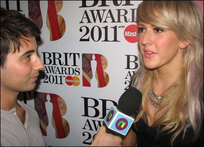 Ricky with Brits nominee Ellie Goulding
