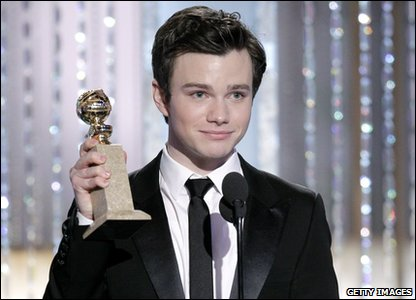 Golden Globes 2011 - Glee actor Chris Colfer