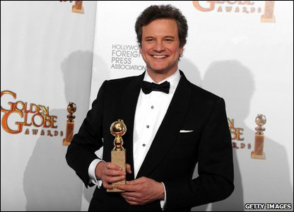 Golden Globes 2011 - British actor Colin Firth