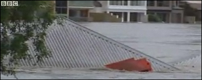 Flood waters in Brisbane