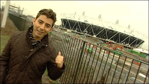 Ricky at the Olympic stadium