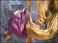 Rapunzel in a still from Disney's Tangled