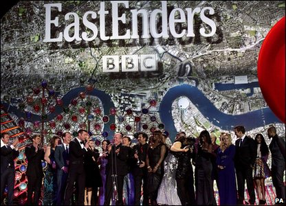 Eastenders cast collecting best serial drama award