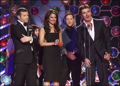 X Factor won best entertainment show