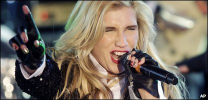 Ke$ha performing