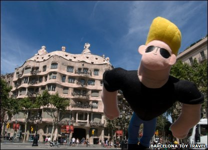 Jonny Bravo toy in Barcelona