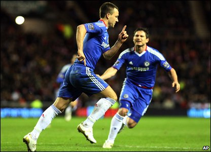 Sunderland v Chelsea - John Terry celebrates his goal
